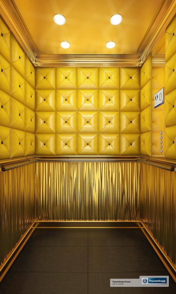 l 39 ascenseur he s rie 7 de thyssenkrupp encasa. Black Bedroom Furniture Sets. Home Design Ideas