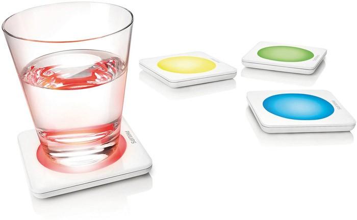 Dessous de verre lumineux par philips for Carreau de verre lumineux