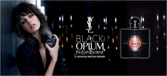 yves saint laurent d voile la campagne de son parfum de la rentr e black opium. Black Bedroom Furniture Sets. Home Design Ideas