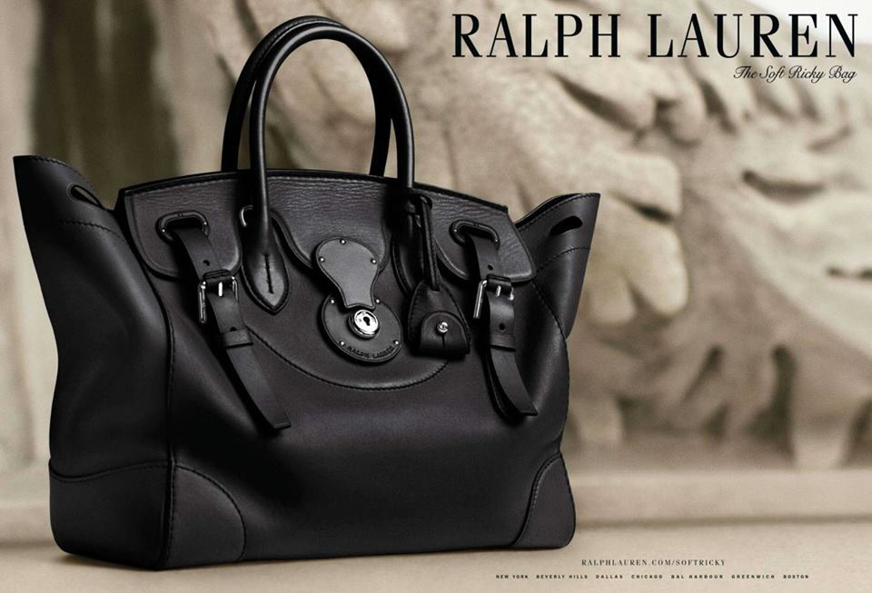 ralph lauren lance un nouveau ricky bag en version connect e. Black Bedroom Furniture Sets. Home Design Ideas