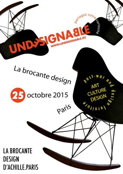 rendez vous le 25 octobre pour la 1ere brocante design d achille. Black Bedroom Furniture Sets. Home Design Ideas