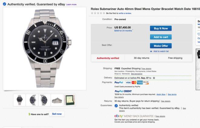 Horlogerie de luxe sur eBay