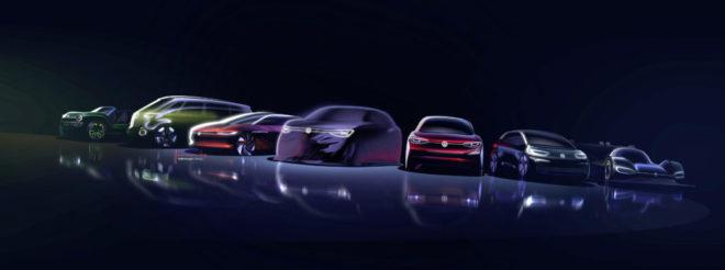 Volkswagen-voiture électrique