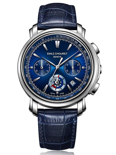 Chronograph Blue collection Lac Léman Emile Chouriet